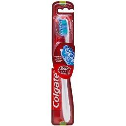 "Colgate зубная щетка ""360 optic white"" питаемая от батарей, средняя жесткость"