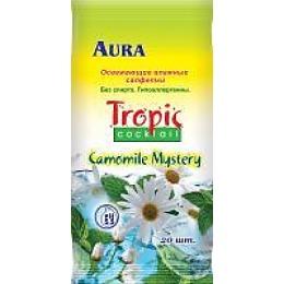 """Aura влажные салфетки """"Тропический коктейль"""" освежающие, ароматизированные"""