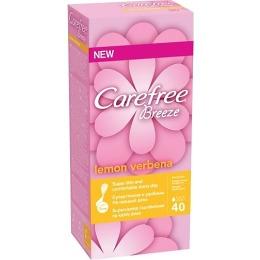 """Carefree прокладки """"Breeze Lemon Verbena"""" ежедневные, ароматизированные, 40 шт"""