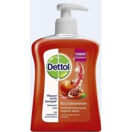 """Dettol жидкое мыло для рук """"Восстановление"""" с экстрактами граната и малины, антибактериальное, 250 мл"""