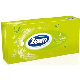 "Zewa платки в коробке ""Every day"" 2-ух слойные, 100 шт"