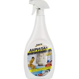 """Bagi спрей """"Акрилан"""" для чистки акриловых ванн, душевых кабин и бассейнов, 750 мл"""