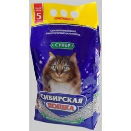 """Сибирская Кошка наполнитель для кошек """"Супер"""" комкующийся, 5 л"""