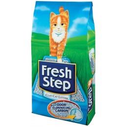 """Fresh Step наполнитель для кошек """"Тройной контроль запахов"""" впитывающий"""