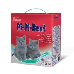 Pi-Pi-Bent наполнитель для котят, комкующийся, в коробке, 5 кг