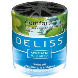 """Deliss освежитель воздуха """"Comfort"""" гелевый, для автомобиля, 60 мл"""