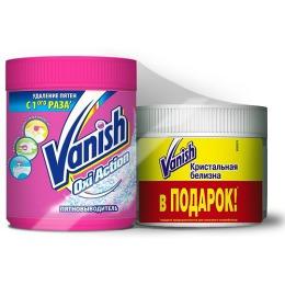 """Vanish """"Oxi Action"""" пятновыводитель для специальных тканей, 500 г + """" Кристальная белизна"""", 250 г"""