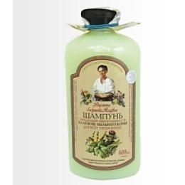 """Рецепты бабушки Агафьи шампунь для всех типов волос """"Объём"""",  600 мл"""