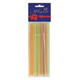 Феерика трубочки для коктейля 0,5х21 см неон цветные с изгибом, 40 шт