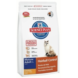 """Hill's корм для пожилых кошек """"Science plan"""" 7+ вывод шерсти"""