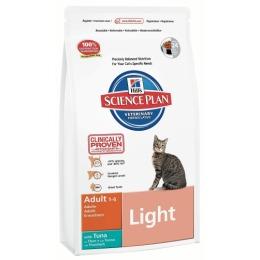 """Hill's корм для взрослых кошек """"Science plan"""" низкокаллорийный с тунцом"""