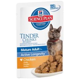 """Hill's пауч для пожилых кошек """"Science plan"""" 7+ с курицей"""