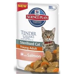 """Hill's пауч для стерилизованных кошек """"Science plan"""" 6 месяцев - 6 лет с лососем"""