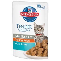 """Hill's пауч для стерилизованных кошек """"Science plan"""" 6 месяцев - 6 лет с форелью"""