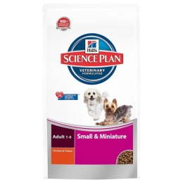 """Hill's корм для взрослых собак декоративных пород """"Science plan"""" курица/индейка"""