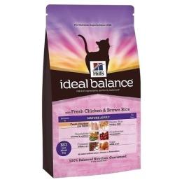 """Hill's корм для пожилых кошек """"Ideal balance"""" 7+ курица/рис"""