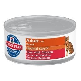 "Hill's корм для взрослых кошек ""Science plan"" печень с курицей"