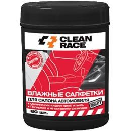 Clean Race влажные салфетки для салона автомобиля в банке, 60 шт