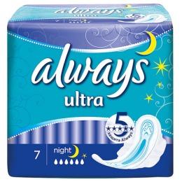 "Always прокладки ""Ultra Night deo single"", 7 шт"