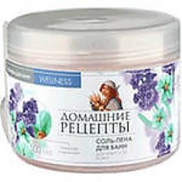 """Домашние рецепты соль для ванн """"Бишофит и липовый цвет"""", 550 г"""