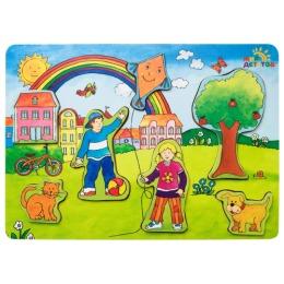 """Мир детства деревянный пазл-ига """"Мир вокруг нас. Дети"""""""