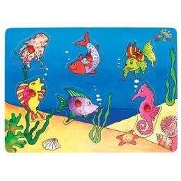 """Мир детства рамка-пазл деревянная """"Мир вокруг нас. Рыбы"""""""