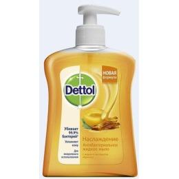 """Dettol жидкое мыло для рук """"Наслаждение с мёдом и экстрактом абрикоса"""" антибактериальное , 250 мл"""