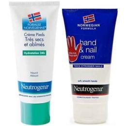 "Neutrogena крем для ног ""Восстанавливающий""  100 мл + крем-уход для рук и ногтей, 75 мл"