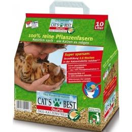 """Cat`s Best наполнитель для кошачьего туалета """"Eko plus"""" древесный, комкующийся, 10 л"""