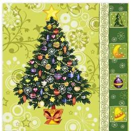 """Aster салфетки """"Creative. Новогодняя елка"""" 3-слойные 25х25 см, 20 шт"""