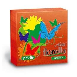 """Aster салфетки """"Naturel. Fiorella"""" 1-слойные красные 24х24 см, 75шт"""