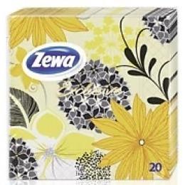 """Zewa салфетки """"Экслюзив Декор"""" желто-черные, 20 шт"""