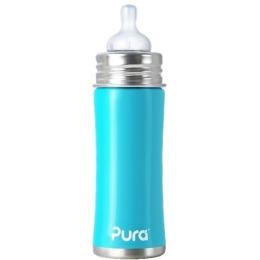 Pura бутылочка стальная голубая