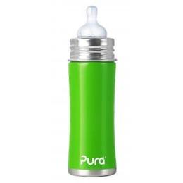 Pura бутылочка стальная зеленая