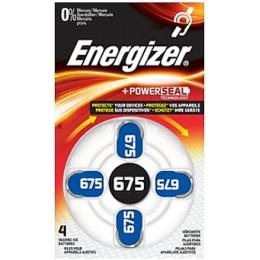Energizer батарейка для слухового аппарата 675 dp-4