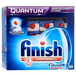 """finish таблетки для мытья посуды в посудомоечных машинах """"Quantum. Лимон"""" 60 шт"""