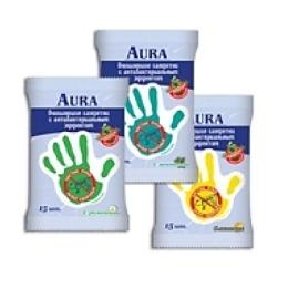 """Aura влажные салфетки """"Ромашка"""" антибактериальные, 15 шт"""
