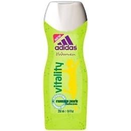 "Adidas пробуждающий гель для душа ""For Women Vitality Hydrating Shower Gel"" с массажными частицами женский, 250 мл"