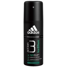 "Adidas антиперспирант спрей для мужчин ""Action 3 ice effect dry max system"", 150 мл"