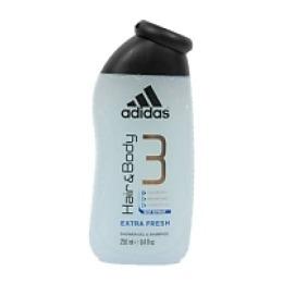 """Adidas гель для душа и шампунь мужской """"Extra Frech"""",  250 мл"""