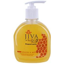 "Jiva жидкое мыло с дозатором ""Молоко и мёд"", 300 мл"