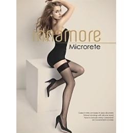 """Innamore чулки """"Microrete calze"""" мелкая сетка, nero"""