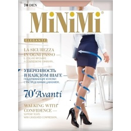 """Minimi колготки """"Avanti 70"""" утяжка по ноге, nero"""