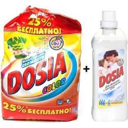 """Dosia стиральный порошок автомат """"Color"""", 5,5 кг + концентрат ополаскивателя для белья для чувствительной кожи, 1 л"""