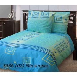 """Блаkiт комплект постельного белья """"Мегаполис голубой"""" 1.5 спальное, наволочки 70х70 см"""