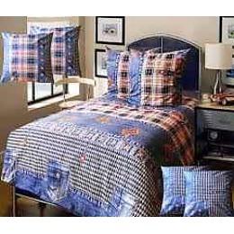 """Блаkiт комплект постельного белья """"Подросток. Деним"""" 1.5 спальное, наволочки 70х70 см"""