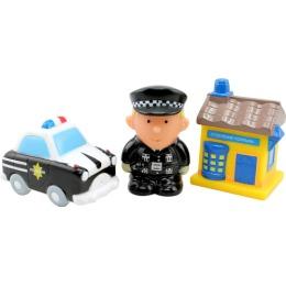 """Курносики набор игрушек-брызгалок для ванны """"Полиция"""""""