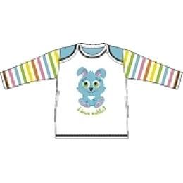 """Курносики футболка с длинным рукавом """"Голубой кролик"""", рост 80 см"""