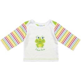 """Курносики футболка с длинным рукавом """"Зеленый лягушонок"""", рост 74 см"""