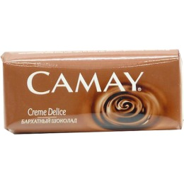 "Camay мыло туалетное ""Creme Delice/ Бархатный шоколад"", 100 г"